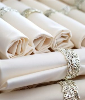 set napkins with rings